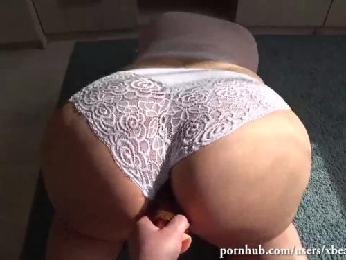 Milf I met with large hot ass in white panties on fatgett.com fucks girlfriend
