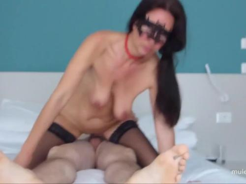 Masked mum together with her step son intercourse on mulemax.com
