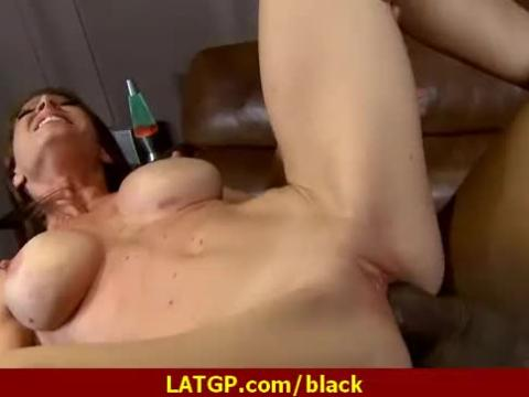 Sexy milf deepthroats gags and gets pounded by a black cock 25